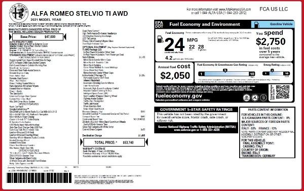 New 2021 Alfa Romeo Stelvio Ti Q4 for sale $53,740 at Pagani of Greenwich in Greenwich CT 06830 24