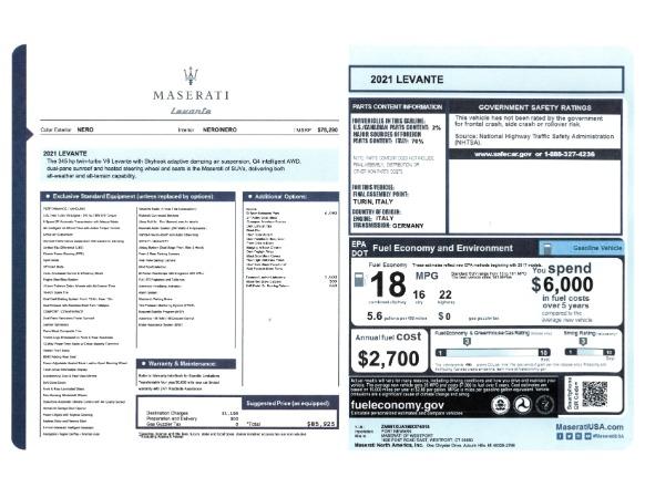 New 2021 Maserati Levante for sale Sold at Pagani of Greenwich in Greenwich CT 06830 2