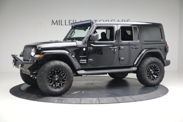 Used 2020 Jeep Wrangler Unlimited Sahara for sale Sold at Pagani of Greenwich in Greenwich CT 06830 3