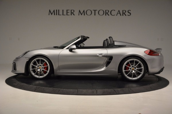 Used 2016 Porsche Boxster Spyder for sale Sold at Pagani of Greenwich in Greenwich CT 06830 3